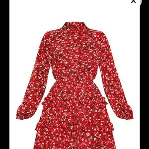 Completely NEW Floral long sleeve dress never wear